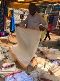 Sarees at Chatikona market