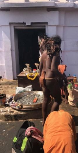 Sadhus in action at the Joranda Festival