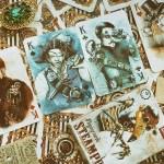 karty do gry steampunk alianci pixel art nigtmares