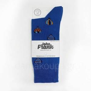 Βαμβακερή κάλτσα μπλε με αερόστατα