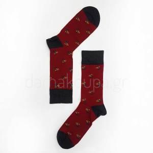 Βαμβακερές μπορντώ οικονομικές κάλτσες