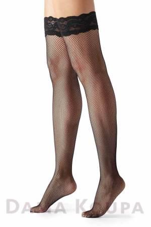 Μαύρες κάλτσες για ζαρτιέρα δίχτυ