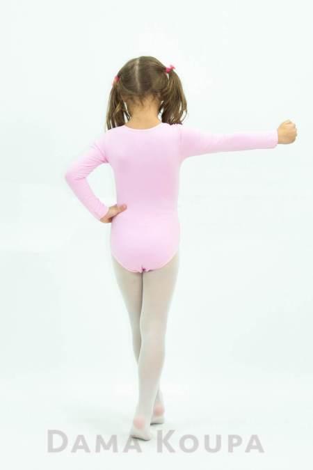 Παιδικό ροζ κορμάκι γυμναστικής και μπαλέτου
