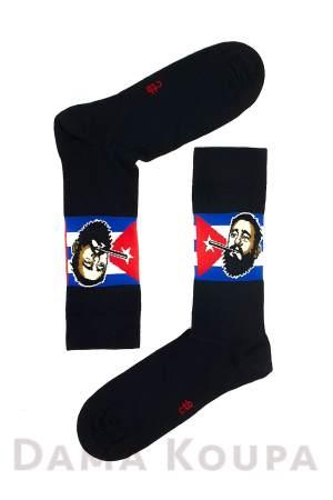 Ανδρικές κάλτσες με σχέδιο Fidel Castro