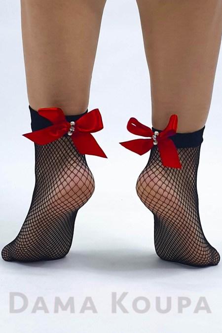 Δίχτυ κάλτσες με φιόγκο