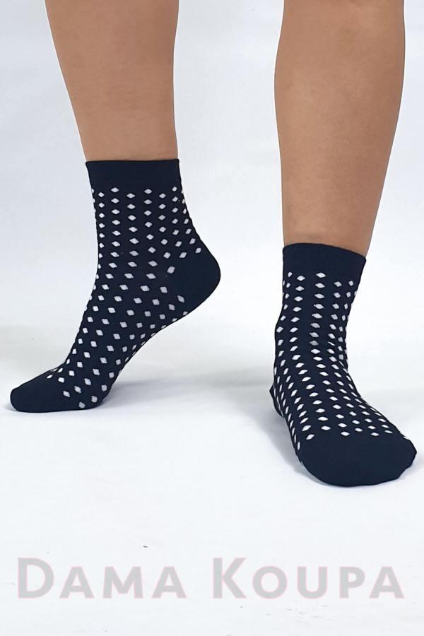 Πουά κάλτσες μαύρες