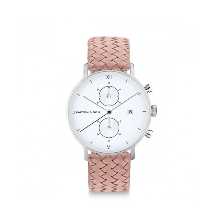 "KAPTEN & SON Silver ""Rose Woven Leather"""
