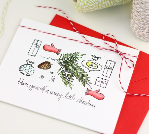 Quick Amp Easy DIY Holiday Card Ideas Damask Love