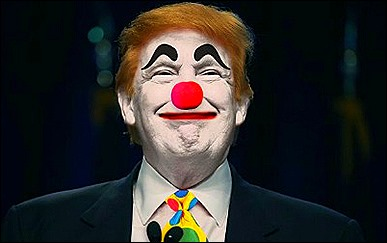 trump clown face
