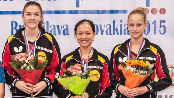 Jugend-EM: Podium Mädchen-Doppel | Damen Tischtennis-Bundesliga