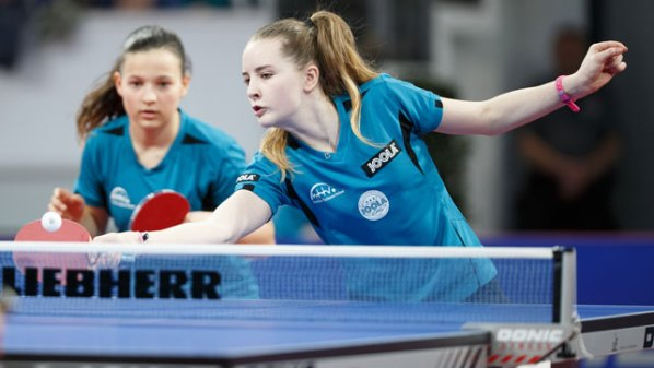 Anastasia Bondareva, VfR Fehlheim und Sophia Klee, SC Niestetal | Damen Tischtennis-Bundesliga