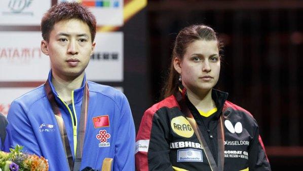 Liebherr Tischtennis-WM 2017: Petrissa Solja, GER and Fang Bo, CHN | Damen Tischtennis-Bundesliga ©Holger Straede