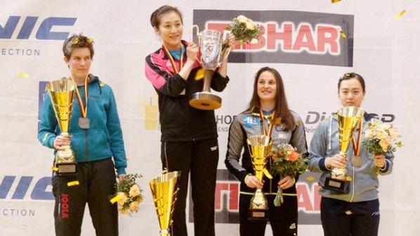 Die Platzierten der Deutsche Meisterschaften im Damen-Einzel | Damen Tischtennis-Bundesliga © Holger Straede