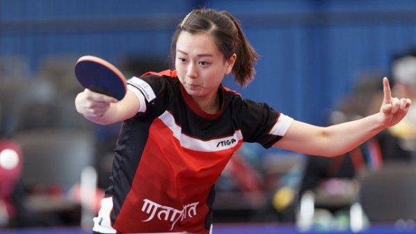Yuan Wan   Damen Tischtennis-Bundesliga © Holger Straede