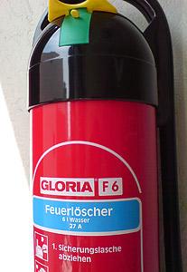 Feuerlöscher Gloria