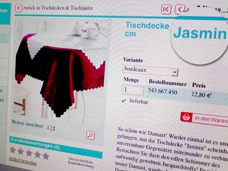 Tischdecke Jasmin