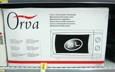 Mikrowelle Orva