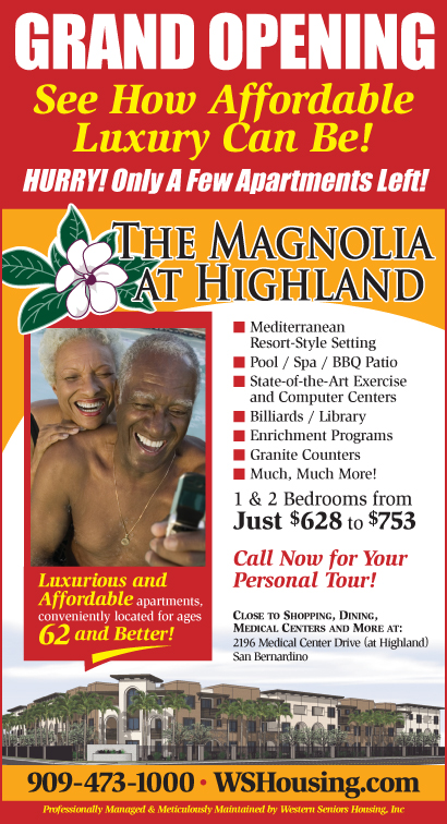The Magnolia at Highlands Senior Citizen Apartments Grand Opening Ad