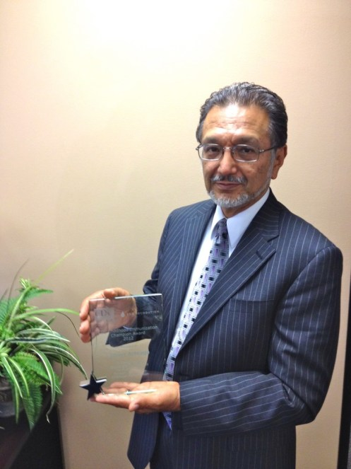 """""""As pediatricians, we strive for 100 percent immunizations of pediatric patients and, while that's probably a utopian objective, our goal is to get as close as to that 100 percent as we can,'' says Dr. Albert Arteaga, president and founder of LaSalle Medical Associates, Inc. . """"This CDC recognition is the fruit of two to three years of intense labor on part of me and staff."""""""