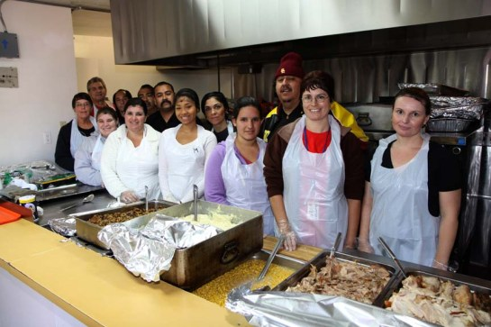Volunteers help serve 60,475 free, hot, nutritious meals were served to the hungry from The Salvation Army's homeless shelter, and Sunday through Friday at 4:45 p.m. at the Corps Office on 746 West 5th Street in San Bernardino