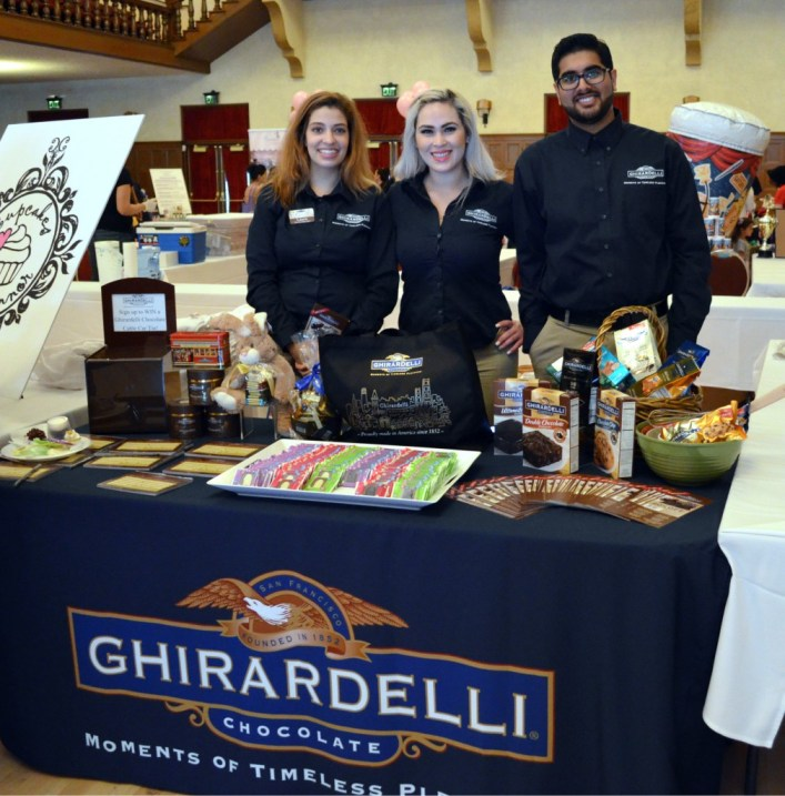 The Ghirardelli Chocolate Company manufacturer and marketer of premium chocolate products brought their delicious chocolates to the IE Cupcake Fair.