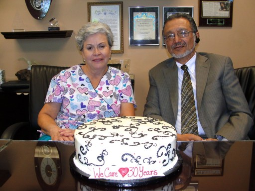 RN Maria and Dr. Albert Arteaga partners in healthcare and family Ce;berate 30 years of Making People Healthier  in California.
