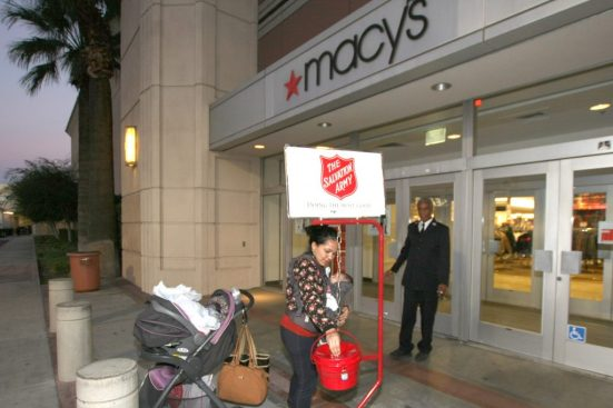 Photo 3 IMG_1590 Haskel and Claudia: Claudia Torres from San Bernardino and daughter Barbara, came by Macy's to pick up some items, and decided to stop by the kettle to make a donation on her way out. Although Claudia had no idea what The Salvation Army uses the money for, she gave anyway. Claudia was informed all about the various ministries and how The Salvation Army helps feed the poor and homeless, and has a Transitional Living Center and Homeless shelter.