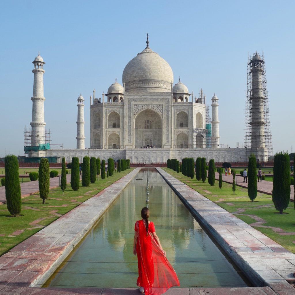 The Taj Mahal in all its glory. http://travelwheretonext.com