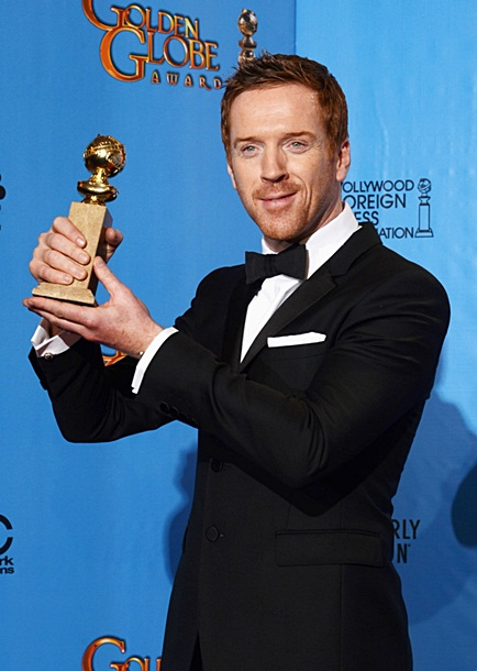 Damian Lewis in the press room of the70th Annual Golden Globe Awards
