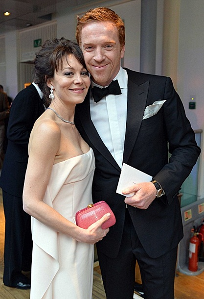 Damian Lewis and Helen McCrory at the Olivier Awards on April 28