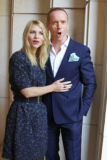 Damian Lewis and Claire Danes at the 'Homeland' Press Conference at the Peninsula Hotel on July 29, 2013