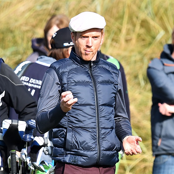 Damian Lewis at the Alfred Dunhill Links Championship