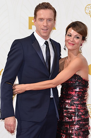 Damian and Helen on the Emmy red carpet