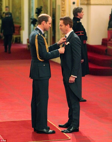 Prince William and Damian Lewis, OBE Honors