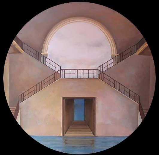 """""""Muelles y Mandalas"""" 2 exposición colectiva de Damián Flores expuesta en la Galería Muelle en el año 2004."""