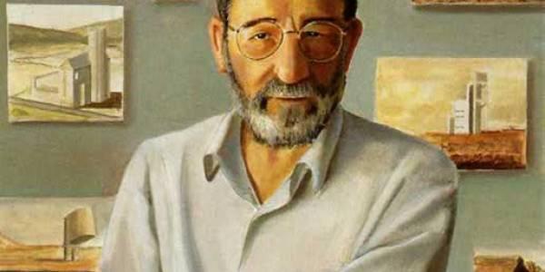 Álvaro Siza . 2004. Óleo sobre madera. 40 x 40 cm