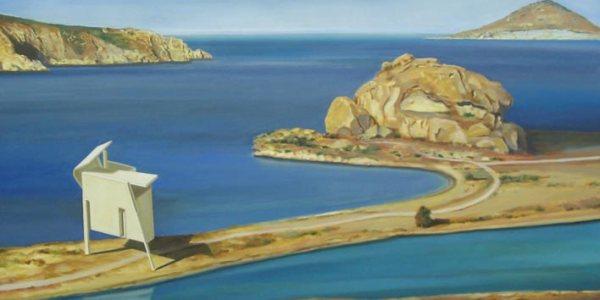 Casa da Praia Baixa. Óleo/tela. 114×195 cm