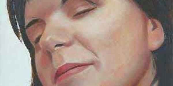 Retrato durmiente: Inés 2003 Óleo sobre madera 27 x 17 cm