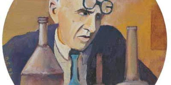Morandi en su estudio 1993 Óleo sobre madera 19,5 cm diám