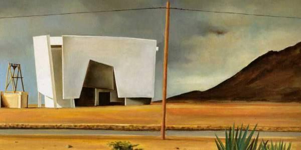 Casa Oteiza. 2004. Óleo sobre madera. 50 x 92 cm