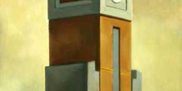 Torre mercado de Toledo. 2005. Óleo sobre tabla. 40 x 30 cm.