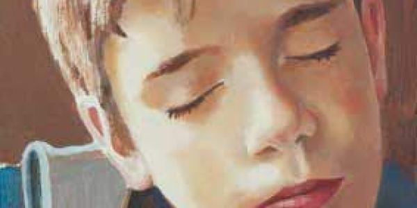 Retrato durmiente: Alberto 2003 Óleo sobre madera 27 x 17 cm