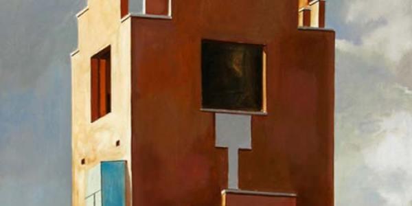 Edificio Whitman. 2007. Óleo/madera. 40 x 40 cm