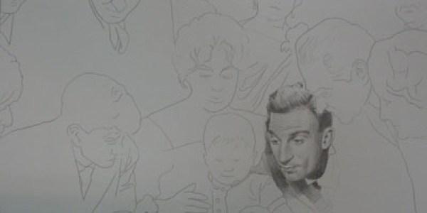 La vida alrededor. 2007. Grafito sobre papel. 32×44 cm.