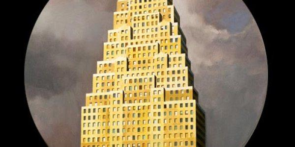 Babel en Manhattan. 2007. Óleo/madera. 50 x 50 cm