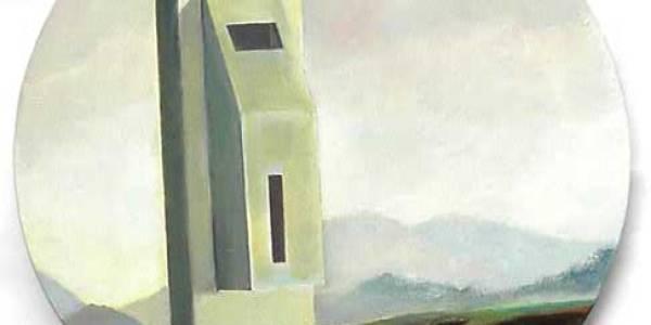 Maison Ledoux. 2003. Óleo sobre madera. 30 cm diám.