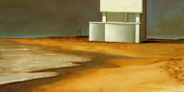 Casa da praia. 2004. Óleo sobre madera. 39 x 58 cm