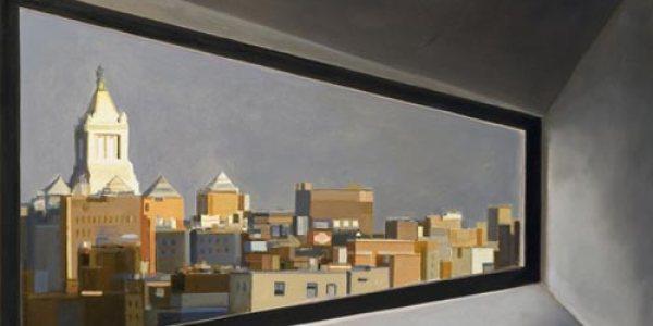 Nueva York desde el Museo Whitney. 2007. Óleo/madera. 40 x 59 cm