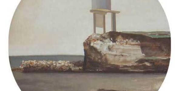 Maison Courbet. 2003. Óleo sobre madera. 30 cm diám.