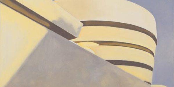 Museo Guggenheim. 2007. Óleo/madera. 37 x 52 cm
